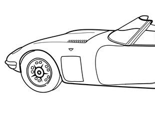 Super car Aston martin DB5 coloring page for ki...