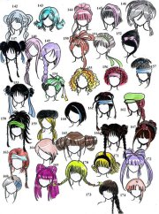 'hairstyles' in drawing references
