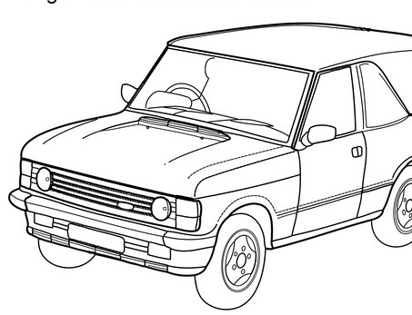 Super car Aston martin DB5 coloring page for ki...