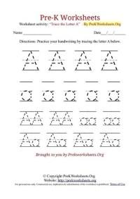 Pre-K Worksheets Alphabet Tracing | Pre K Works...