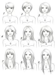 hair styles drawing reference guide