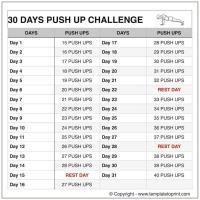 Push ups Workout Routine Chart | 30 Day Pushup ...
