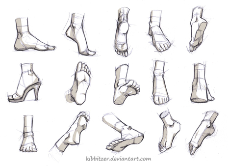 'how to draw feet' in Drawing References and Resources