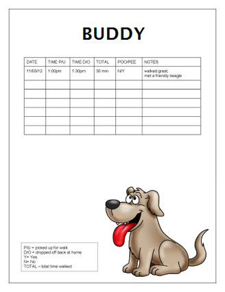 In these page we also have variety of images. Free Dog Walking Log Templates Office Templat