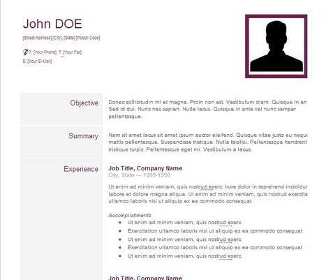 Resume Format Resume Format Google Drive