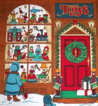 2 Cotton Quilting Christmas Toy Store Panels Co...