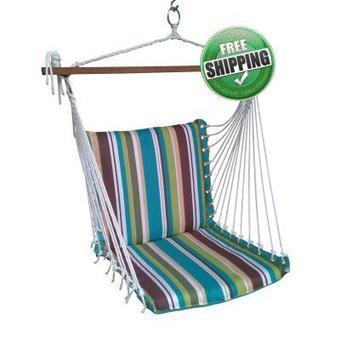 swing chair stand india exercises for seniors cotton rope hammock with pad am polyester premium cushioned garden best price in