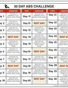 day abs challenge chart before and after results workout also re rh scoop