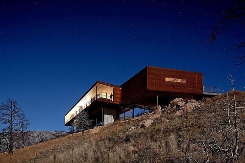 Maison Contemporaine En Bois Sunshine Canyon Residence Par