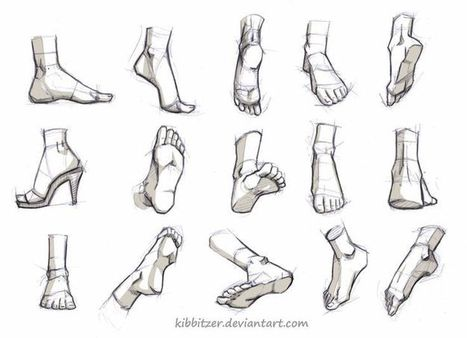 'foot drawing' in Drawing References and Resources