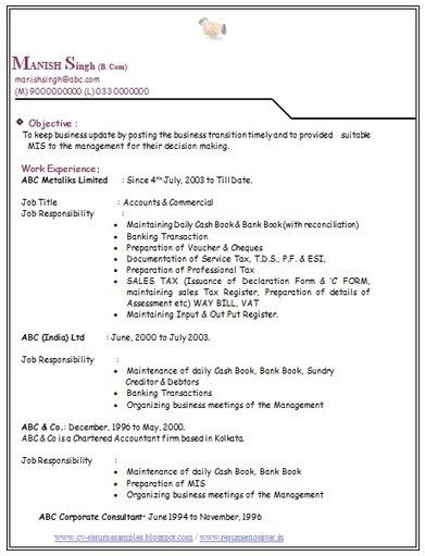 bba finance resume sample