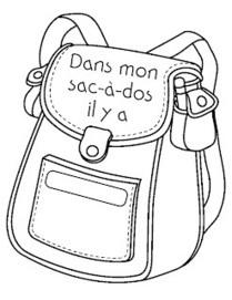 Madame Belle Feuille: dans mon sac-à-dos...