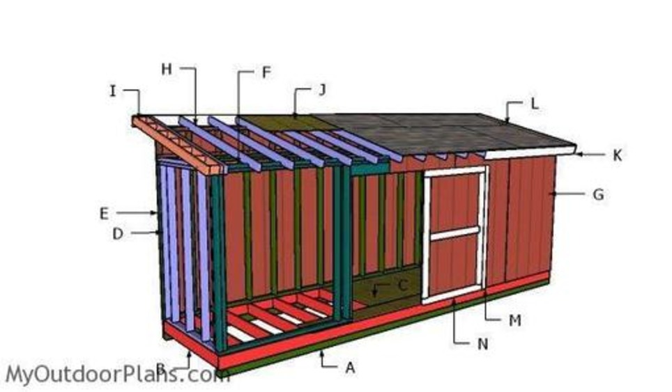 Lean To Shed In Garden Plans Scoop It