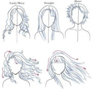 tuto draw heads and hair