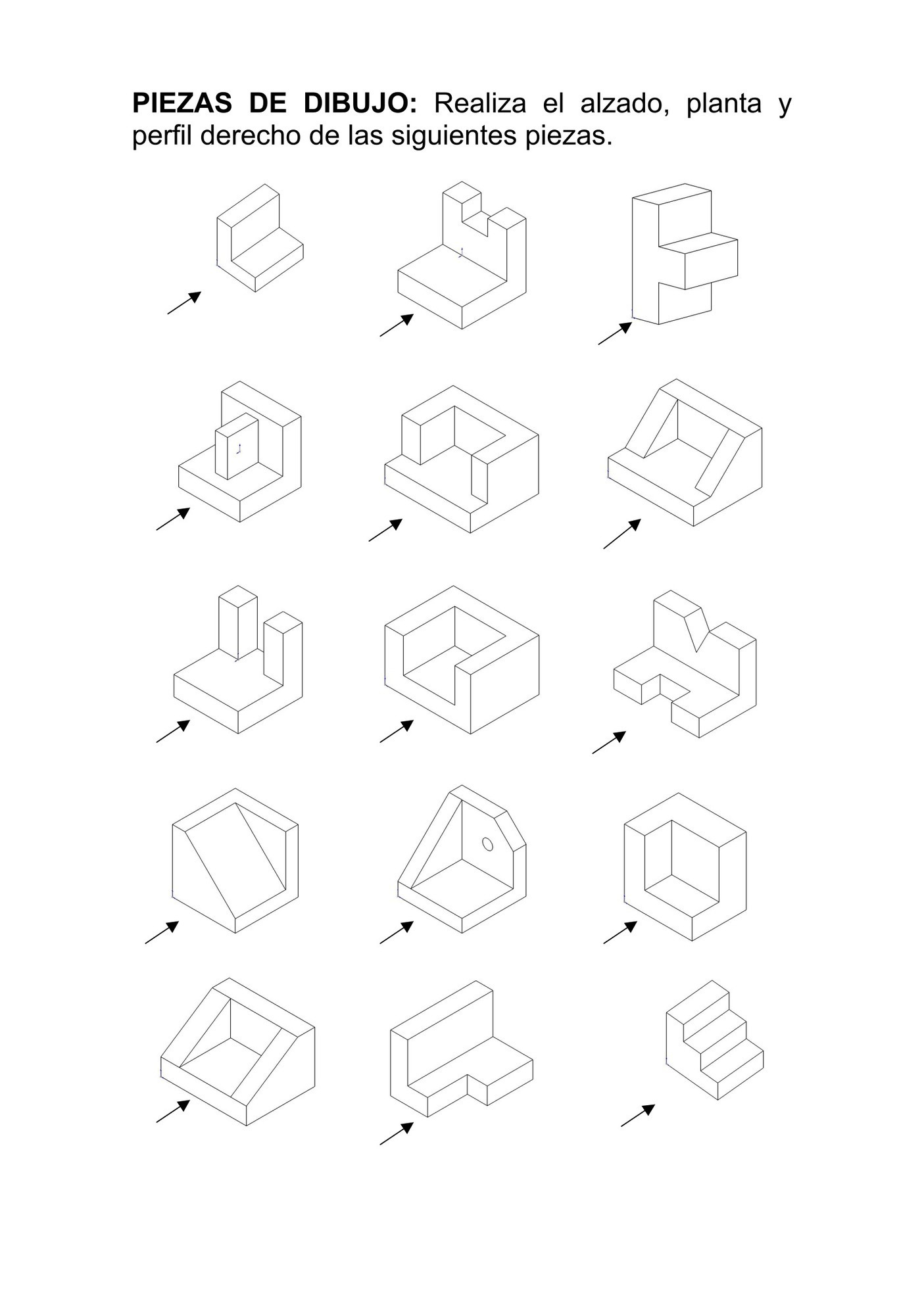Piezas de dibujo diseñadas con Openscad