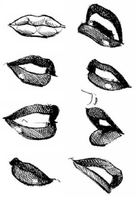 'how to draw lips' in Drawing References and Resources