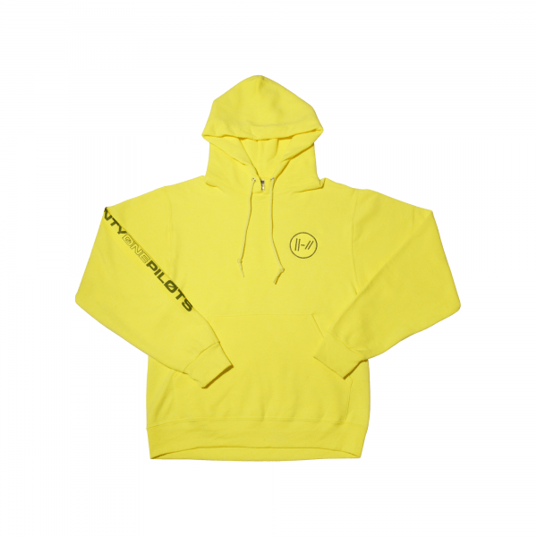embroidered logo hoodie yellow