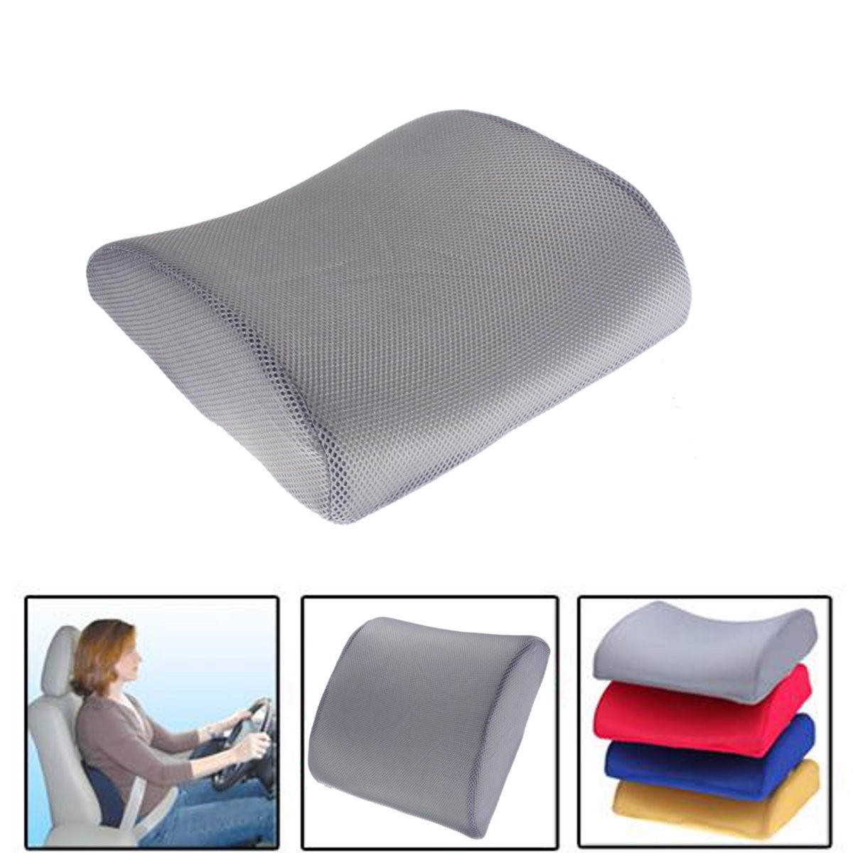 back pillow for office chair positive posture massage reviews memory foam lumbar support cushion
