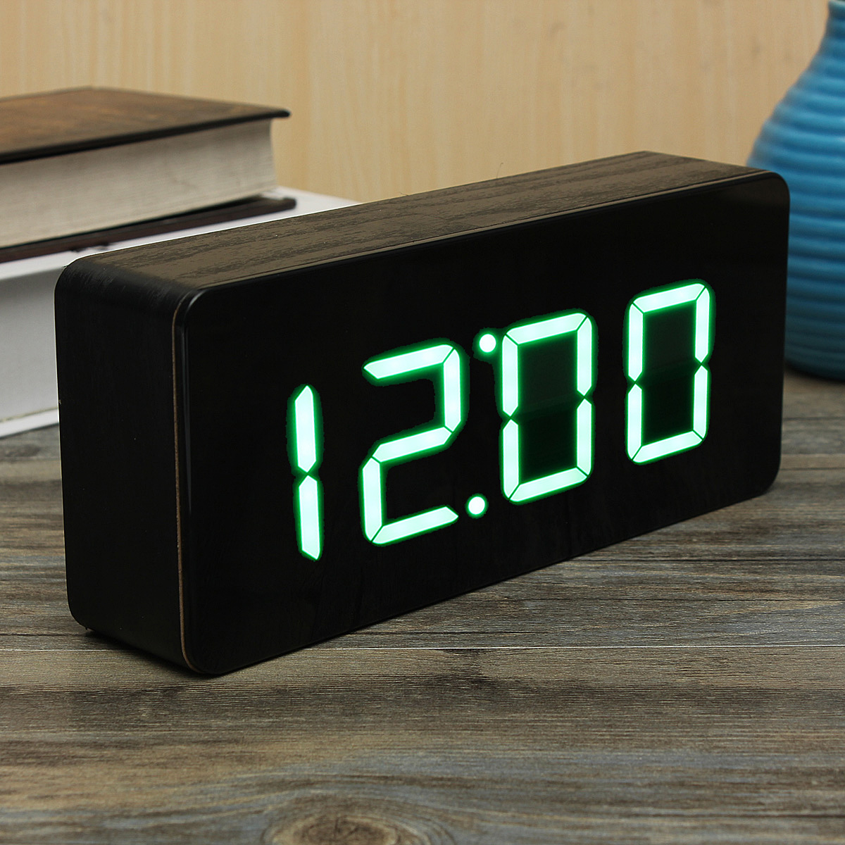 Wecker Digital Kind Acryl Spiegel Wooden Holz Digital Led Wecker Clock Uhr