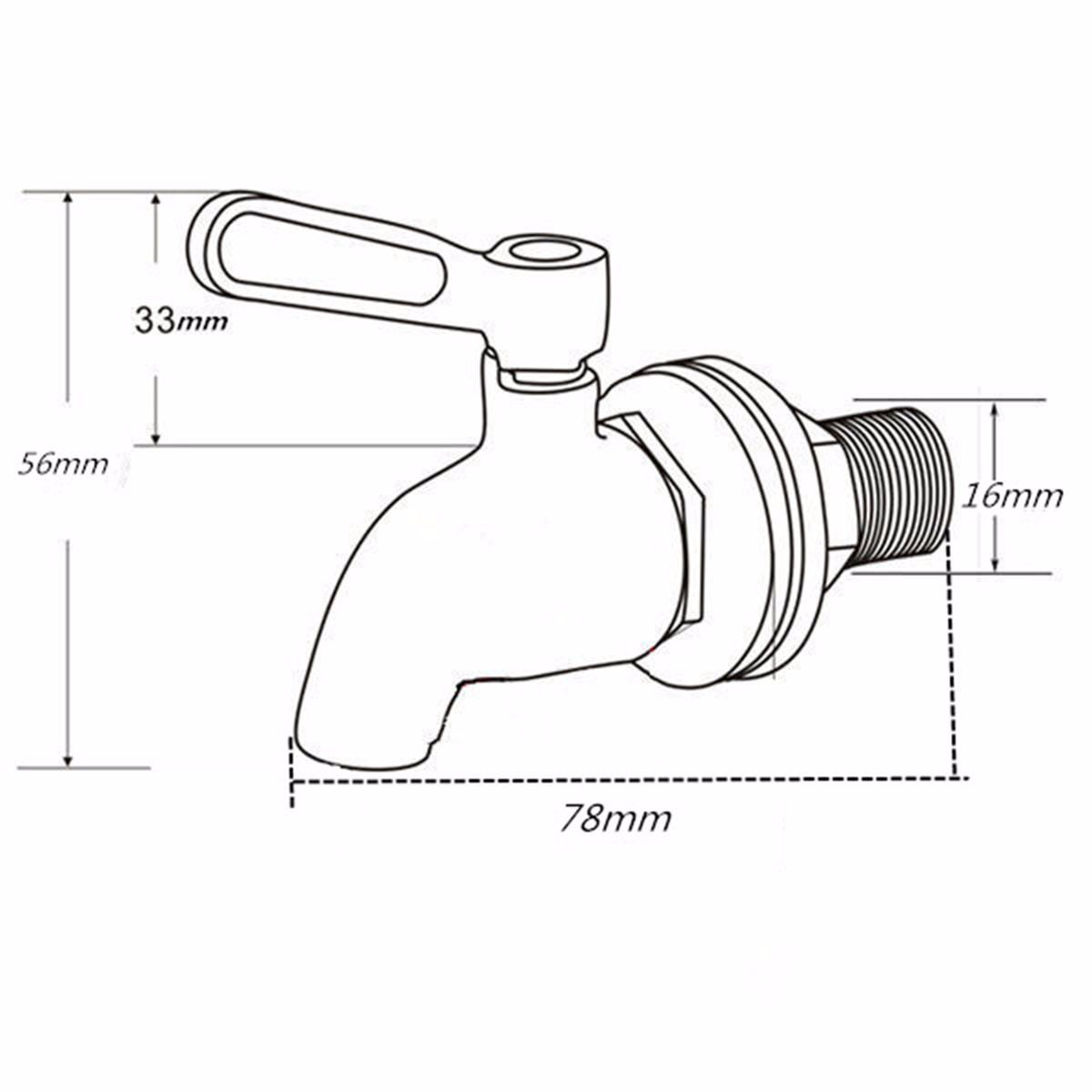 304 Stainless Steel Replacement Spigot/Faucet for Beverage