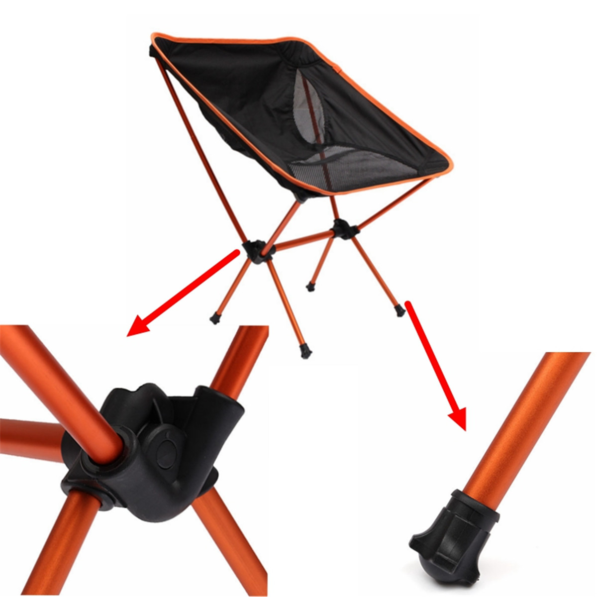 fishing chair singapore twin bed sleeper folding camping with bag orange export lazada