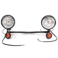 Motorcycle Spot Light Lamp Bar Set Turn Signal Bracket For