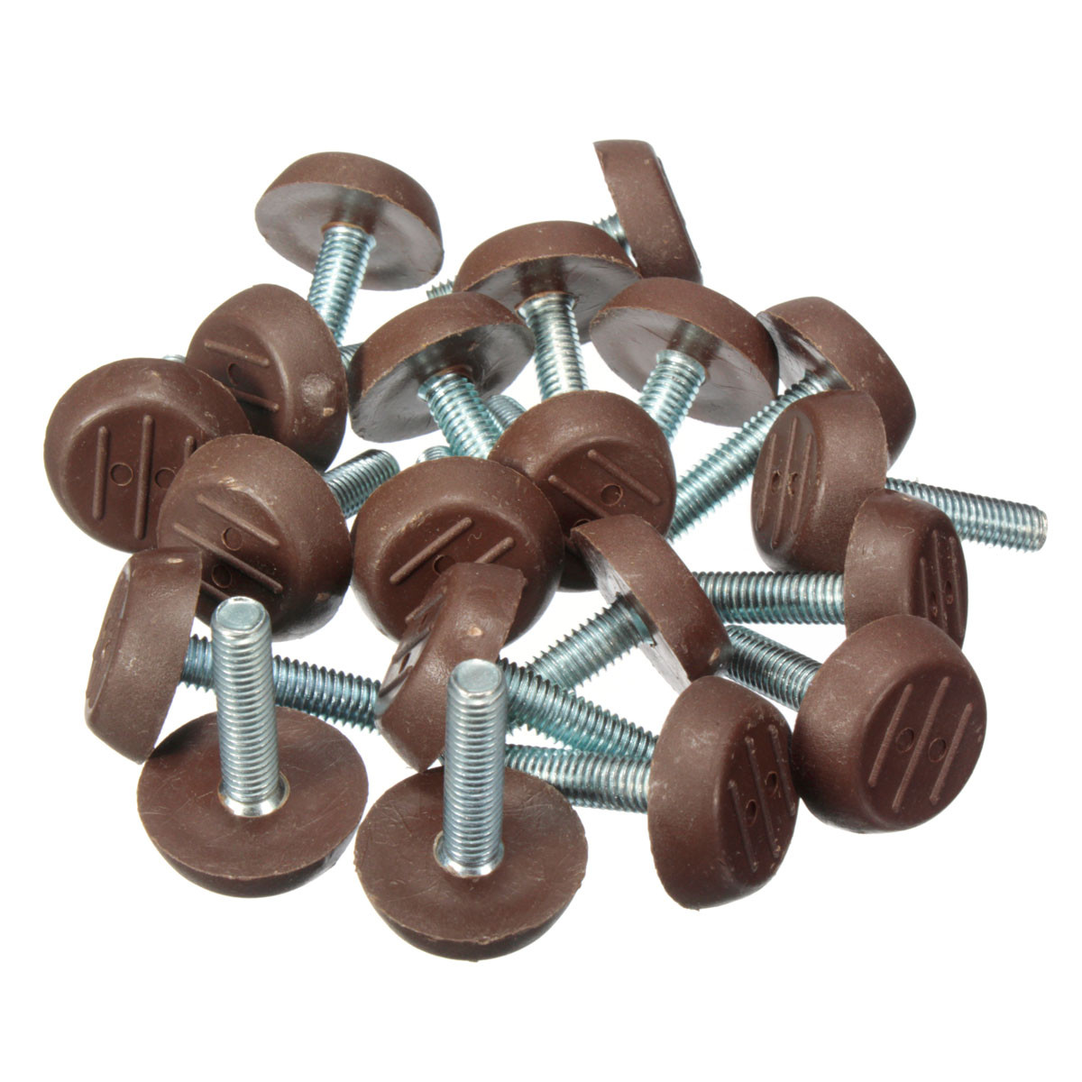 threaded chair glides steel for hospital 20x m6 adjustable screw glide feet leveling foot
