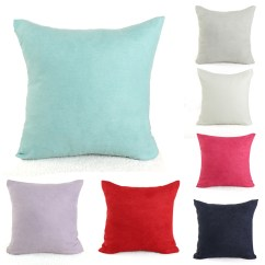 How To Clean Suede Sofa Covers Polaris Collection 2pcs Candy Color Soft Micro Pillow Case Cushion