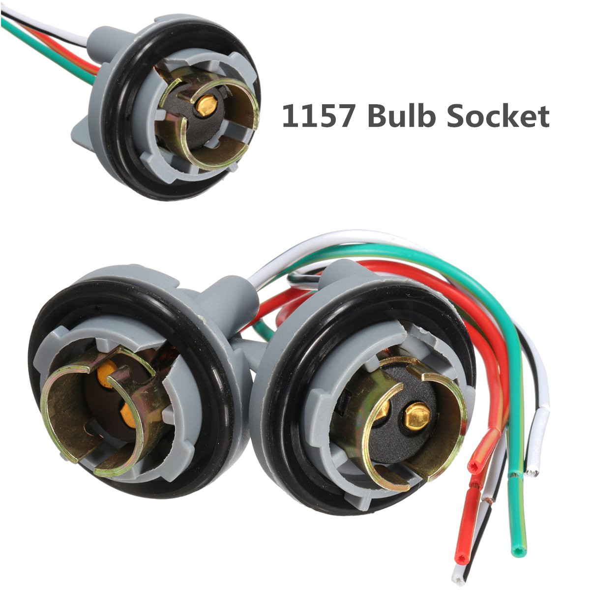 hight resolution of generic 2x 1157 turn light brake bulb socket connector wire harness plug for led bulbs