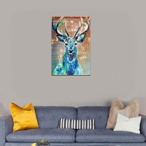 Hd Unframed Canvas Abstract Elk Deer Prints Modern Decor Art Painting - Intl Lazada