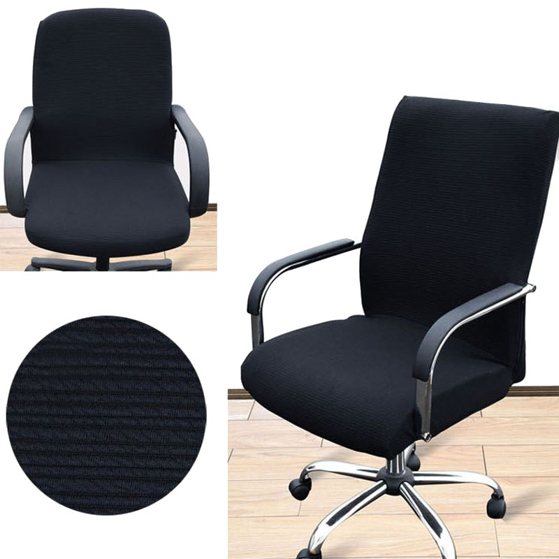 office chair johor outdoor plastic chairs nz arm cover three sizes computer side zipper design recouvre chaise ...