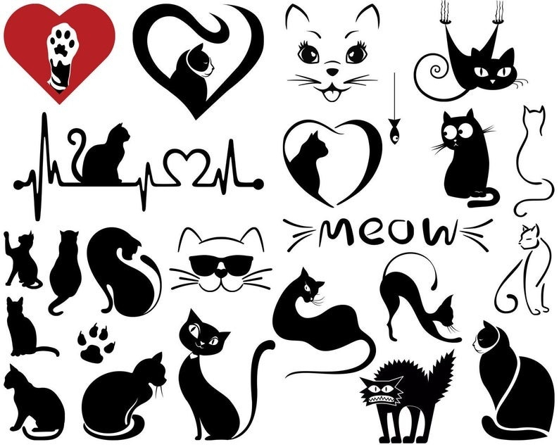 Download Cat SVG, Cat Love Svg, Meow, For Cricut, For Silhouette ...