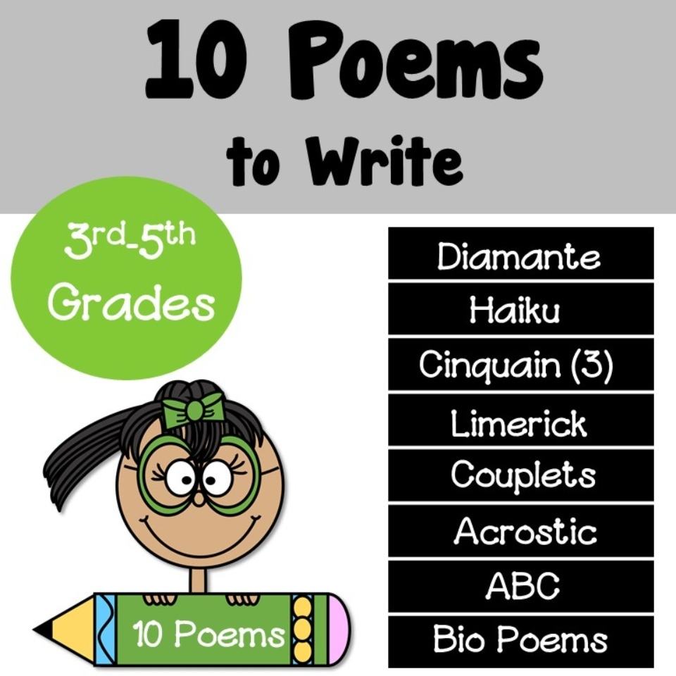 hight resolution of Poems to Write - Teacher's Take-Out