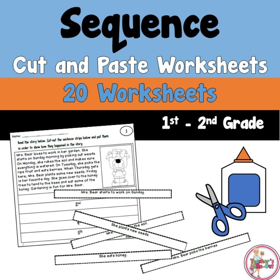hight resolution of Sequence Cut and Paste Workseets - Teacher's Take-Out
