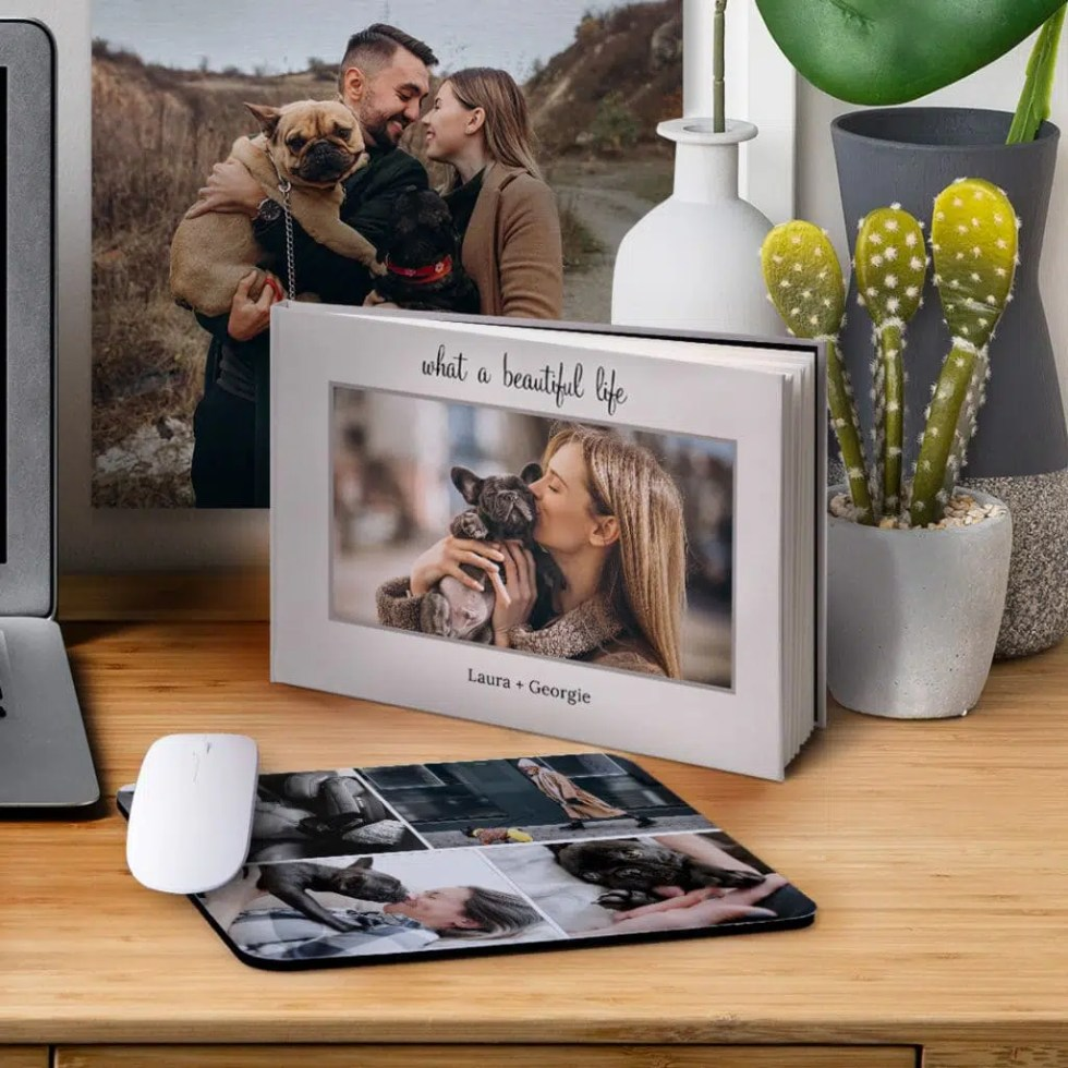 Create personalized photo albums, canvas prints and photo gifts of your pet