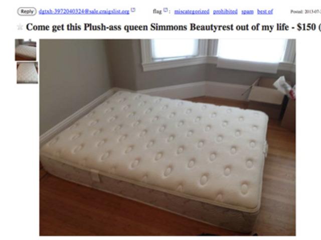 breakup leads to craigslist mattress