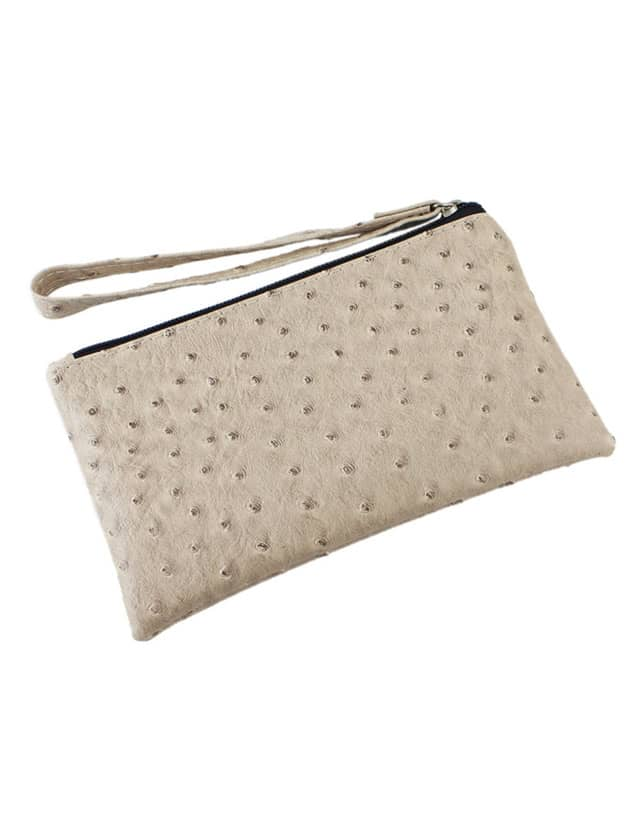 SheIn Khaki Simple Design Pu Clutch Bag