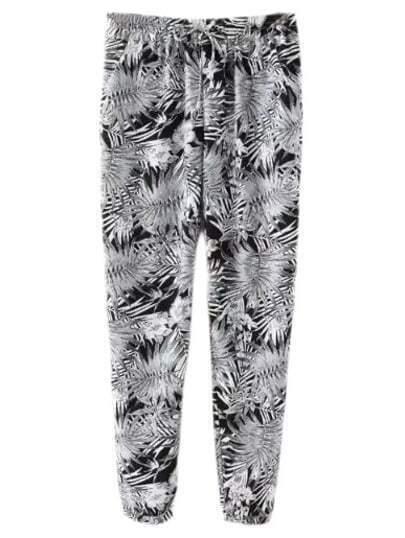 pantalon taille élastique -multicolore