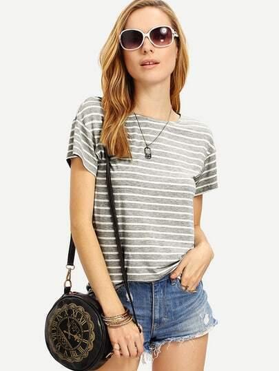 t-shirt rayé shein