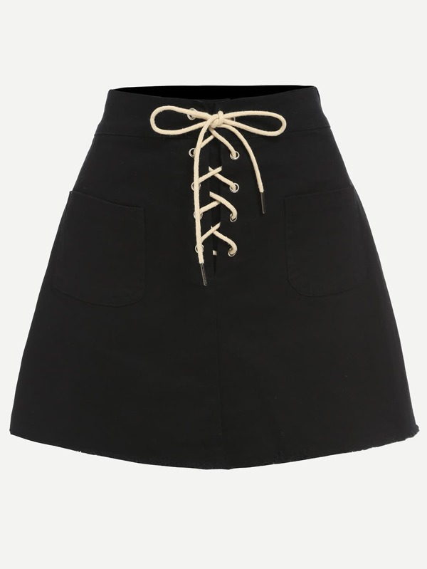 1466138188647012511 thumbnail 600x - SheIn Embroidered Skirt