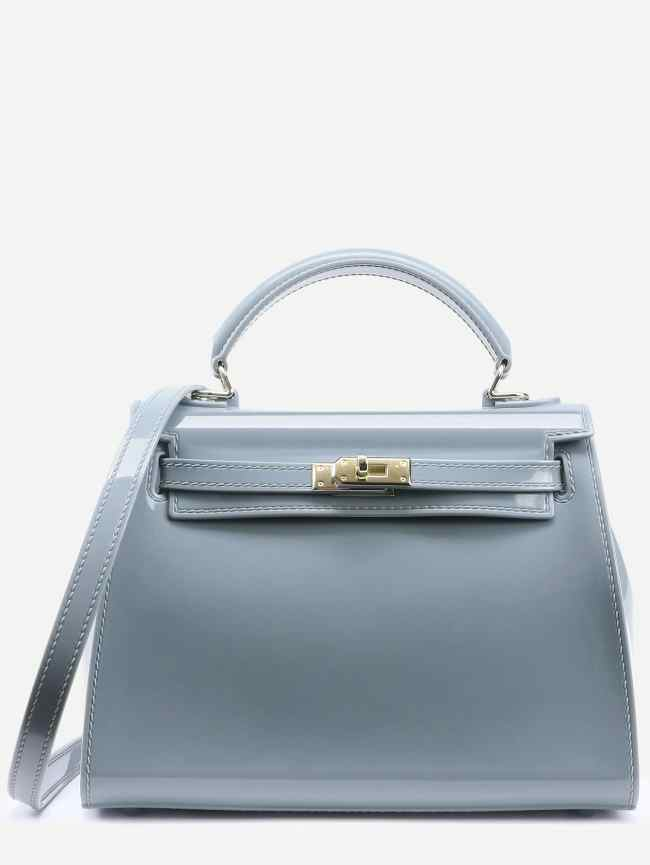SheIn Turnlock Trapezoidal Handbag With Strap