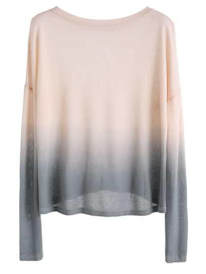 Ombre Drop Shoulder Knit T-shirt