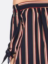 Striped Bow Tie Top NAVY -SheIn(Sheinside)