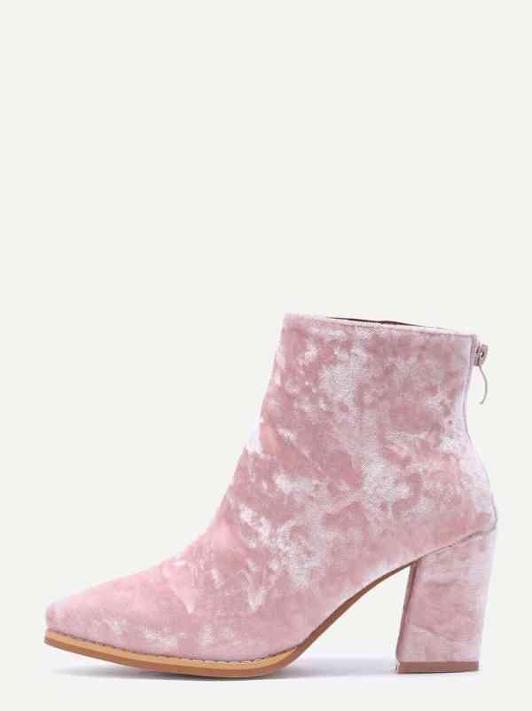 Prendas Terciopelo Tendencia 2017 look outfit botín botines rosas