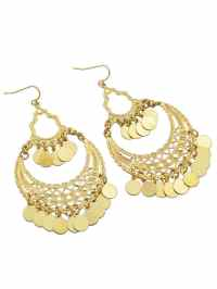 Indian Gold Color Big Chandelier Earrings -SheIn(Sheinside)