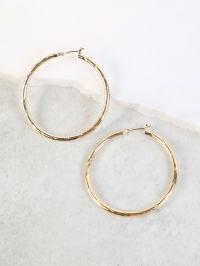 Thick Hoop Earrings GOLD -SheIn(Sheinside)