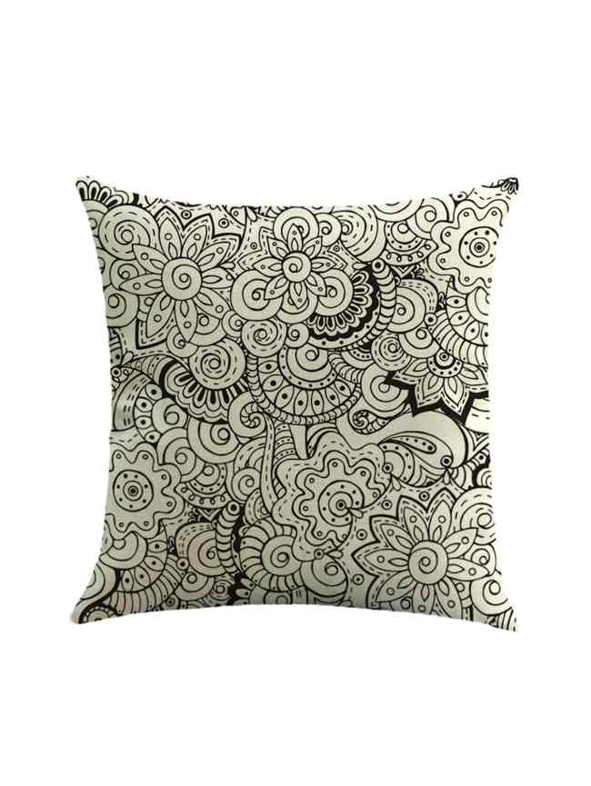 SheIn Abstract Flower Print Pillowcase Cover