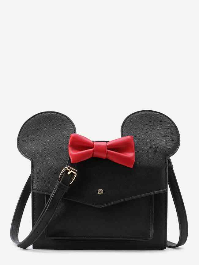 SheIn Mickey Design Cute PU Shoulder Bag