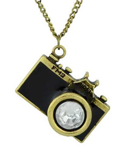 New Arrival Individual Vintage Black Camera Necklace pictures