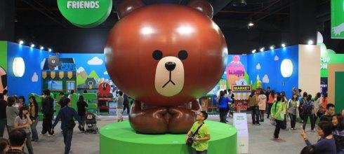 LINE展覽 臺北 台中 暑假好玩景點 LINE FRIENDS互動樂園 熊大 兔兔 貼圖再現 俏麗登場